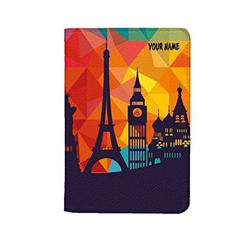 Travel City Mosaic Leather Business Passport Holder Protector Cover_SUPERTRAMPshop