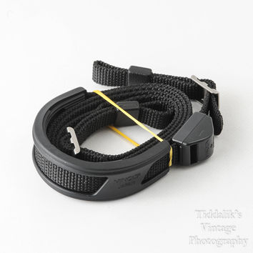 Vintage Genuine Minolta Thin Black Camera Strap in Very Good Condition