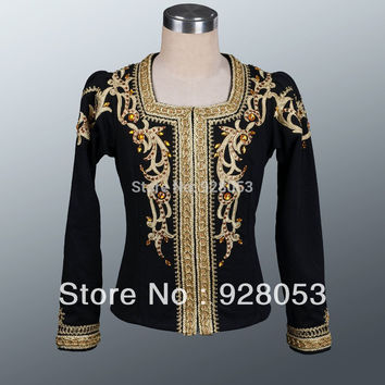 Fast Shipping!Man Ballet Clothes Male Professional Dance Costumes Boy Coat For Ballet Black Classical Ballet Dance Wear AT0072