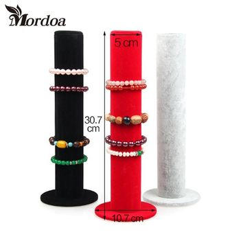 Mordoa Jewelry Display Bracelets Hand Catenary Organizer Hairband Display 3 Colors Velvet Display Rack Jewellery Stand Holder