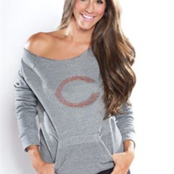 Chicago Bears Off Shoulder Sweatshirt womens | SportyThreads.com