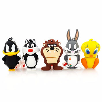 Looney Tune Cartoon USB Flash Drive 64G Pen Drive 32G Pendrive 16G 8G 4G New Style