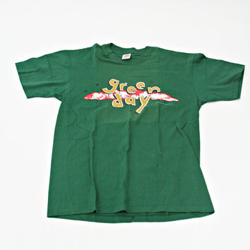 vintage 90s GREEN DAY DOOKIE t shirt size L