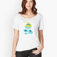 """Birdies on Flower"" Women's Fitted Scoop T-Shirt by mirimo 
