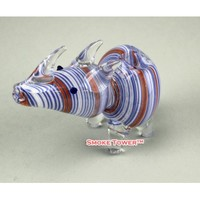 Color Rhino Hand Made Glass Pipe