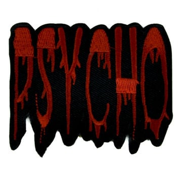 Blood Drip Psycho Iron on Applique Patch Alternative DIY Clothing Horror