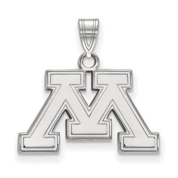 NCAA Sterling Silver U. of Minnesota Small Pendant Necklace