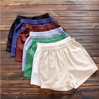 Solid Mianma - up baggy shorts female students relaxed leisure thin summer