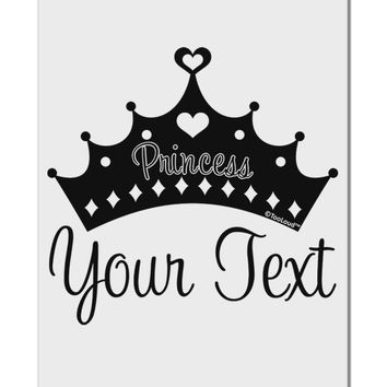 "Personalized Princess -Name- Design Aluminum 8 x 12"" Sign"