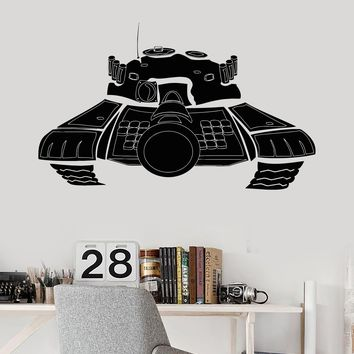 Vinyl Wall Decal Tank War Military Decor Boys Children's Room Stickers Unique Gift (059ig)