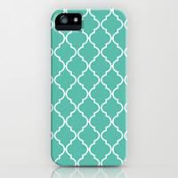 Quatrefoil - Teal iPhone & iPod Case by Valerie Hoffmann   Society6