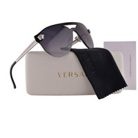 VERSACE VE 2161 Women's Sunglasses 1000/8G Silver&Black/Gray Gradient / RX25/30