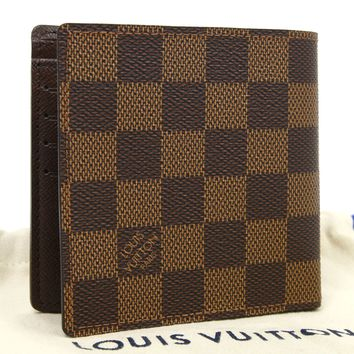 Louis Vuitton Damier Marco Bifold Wallet Compact N61675 Authentic #3310
