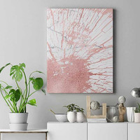 Rose gold abstract art, tree ring print, poster, rose gold decor, bedroom wall art, blush art, marble print, home decor, modern wall art