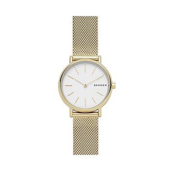 Skagen Signatur Slim Gold-Tone Steel-Mesh Watch