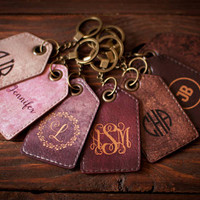 Luggage tag Personalized luggage tag Leather luggage tag bridesmaid gift bachelorette party Luggage tags personalized Bag tags Monogram