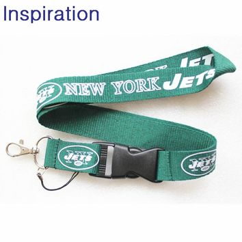 New York Jets Lanyard Neck Strap For ID Pass Card Badge Gym Key Mobile Phone USB Holder DIY Hang Rope Lanyard Sport Necklace