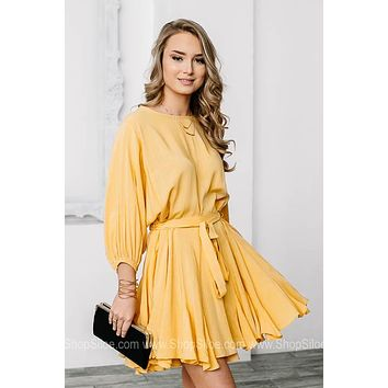 Honeysuckle Full Ruffle Mini Dress