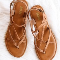 Winnie Strapped Sandal, Natural