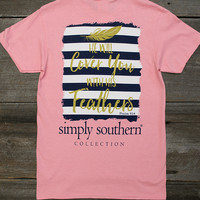 Cover With Feathers Tee   Simply Southern