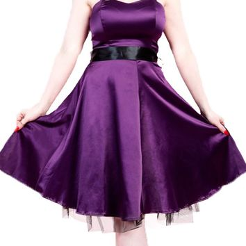 After Midnight Dress in Purple | Blame Betty