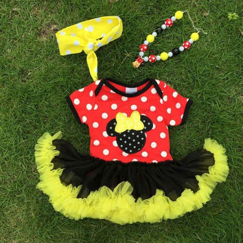 Minnie Mouse Tutu Onesuit and Accesories