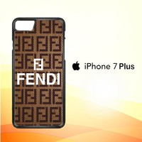 fendi Brown Z3923 iPhone 7 Plus Case
