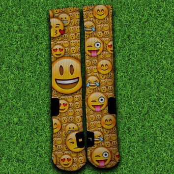 Smiley Emoji Socks,Custom socks,Personalized socks,Elite socks