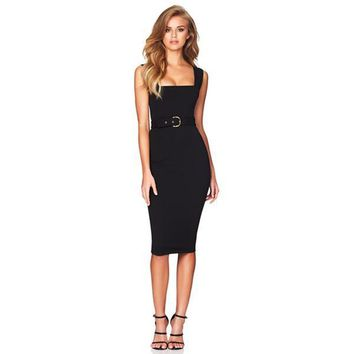 Heartless Bandage Dress - Black