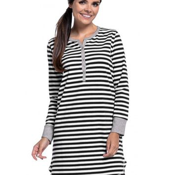 Button Front Maternity & Nursing Nightgown