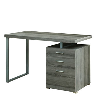 """Dark Taupe Reclaimed-Look Left Or Right Facing 48""""L Desk"""