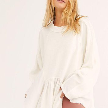 Women's Free People Gold Duster Pullover