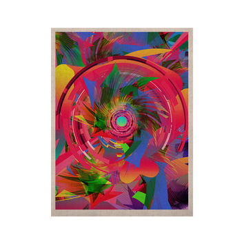 """Danny Ivan """"Fun Hole"""" Pink Multicolor KESS Naturals Canvas (Frame not Included)"""