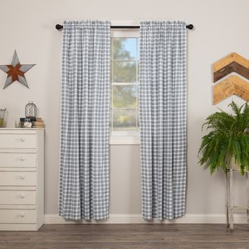Sawyer Mill Blue Plaid Panel Curtains