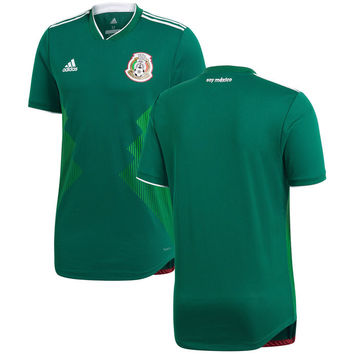 Mexico National Team 2018/2019 Home Blank Soccer Jersey - Green