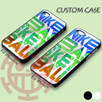 Amazing Nike Basketball Coloufull for iPhone 5/5S, 5C Case, iPhone 4/4S Case, Samsung Galaxy S3 i9300, S4 i9500 Case.
