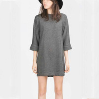 Gray Knitted T-Shirt