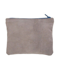 Small Suede Carry-All Pouch