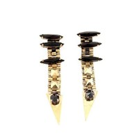 Iosselliani  | Black Rhinestone and Stud Earrings