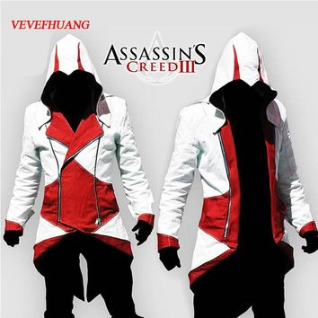 VEVEFHAUNG Halloween costumes Assurance 3 New Kenway Men's jacket anime cosplay clothes assassins creed costumes for boys kids