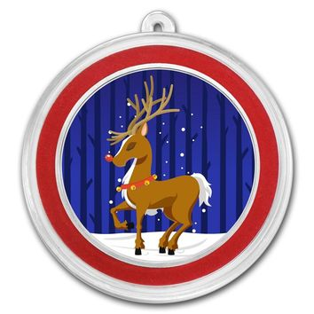 1 oz Silver Round - Rudolph the Red-Nosed Reindeer