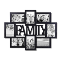 """Family"" 8 Opening Collage Picture Frame"