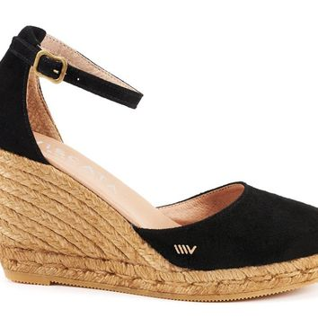 Palamos Suede Wedges - Black