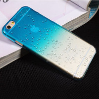 Ultra-thin Creatively 3D rain drop water raindrop hard back cover semi-transparent colorful phone case for iphone 6 6s