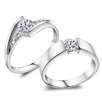 Diamond Engagement Wedding Rings for Men and women. 2 piece.