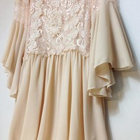 New arrival korean return to ancient lace chiffon dress