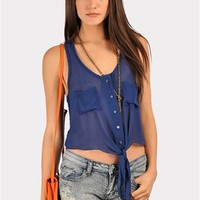 Springing Tank - Blue at Necessary Clothing