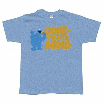 Sesame Street - One Track Mind Adult T-Shirt