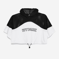 Mesh Hooded Crop T-shirt by Ivy Park | Topshop