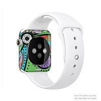 The Bold Paisley Flower Full-Body Skin Kit for the Apple Watch